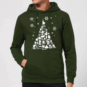 Felpa con cappuccio Star Wars Character Christmas Tree Christmas - Forest Green