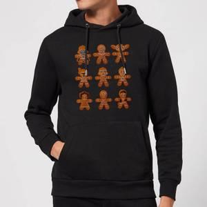 Star Wars Gingerbread Characters Christmas Hoodie - Black