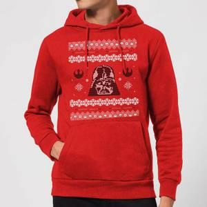 Star Wars Darth Vader Knit Christmas Hoodie - Red