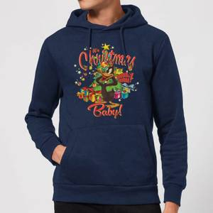Looney Tunes Its Christmas Baby Christmas Hoodie - Navy