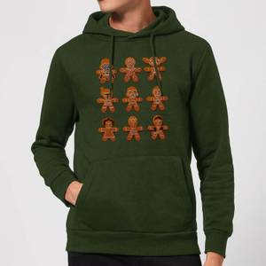 Star Wars Gingerbread Characters Christmas Hoodie - Forest Green