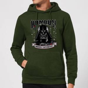 Star Wars Darth Vader Humbug Christmas Hoodie - Forest Green