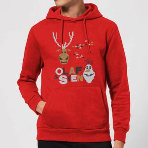 Disney Frozen Olaf and Sven Christmas Hoodie - Red