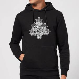 Marvel Shields Snowflakes Christmas Hoodie - Black