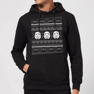 Star Wars Stormtrooper Knit Christmas Hoodie - Black