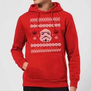 Star Wars Stormtrooper Knit Christmas Hoodie - Red