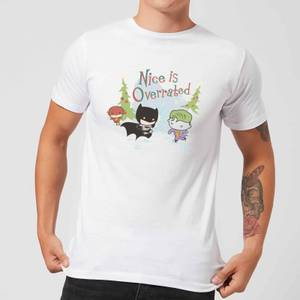 DC Nice Is Overrated Herren Christmas T-Shirt - Weiß