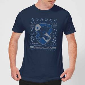 Harry Potter Ravenclaw Crest Men's Christmas T-Shirt - Navy