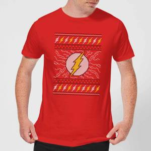 DC Flash Knit Herren Christmas T-Shirt - Rot