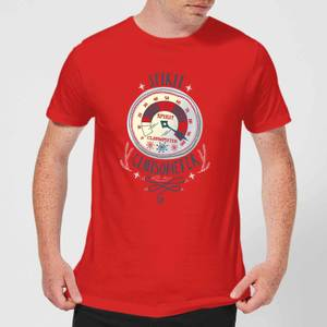 Elf Clausometer Men's Christmas T-Shirt - Red