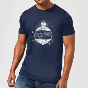 Harry Potter Yule Ball Baubel Men's Christmas T-Shirt - Navy