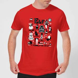 Elf Men's Christmas T-Shirt - Red