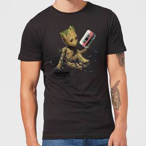Guardians Of The Galaxy Groot Tape Men's Christmas T-Shirt - Black