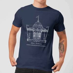 Mary Poppins Carousel Sketch Men's Christmas T-Shirt - Navy