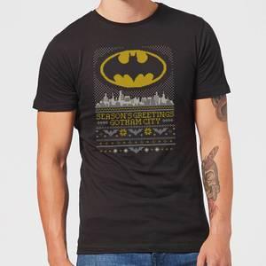 DC Seasons Greetings From Gotham Men's Christmas T-Shirt - Black