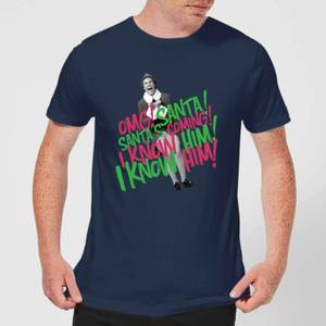 Elf Santa! I Know Him! Men's Christmas T-Shirt - Navy