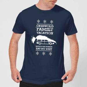 National Lampoon Griswold Vacation Ugly Knit Men's Christmas T-Shirt - Navy