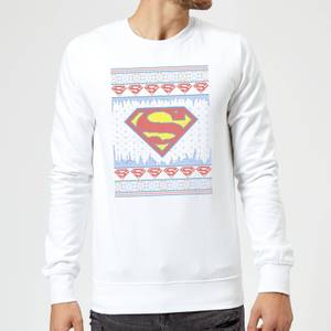 DC Supergirl Knit Christmas Sweater - White