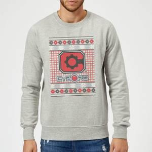 DC Cyborg Knit Christmas Sweatshirt - Grey