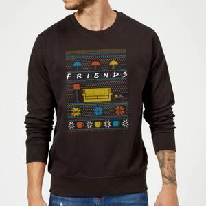 Friends Sofa Knit Christmas Sweatshirt - Black