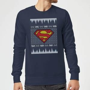 DC Superman Knit Christmas Sweater - Navy