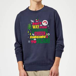 Elf Christmas Cheer Christmas Sweatshirt - Navy