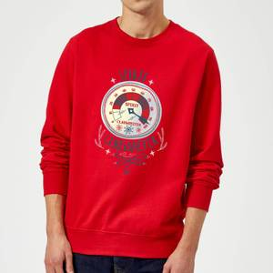 Elf Clausometer Christmas Sweatshirt - Red