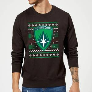 Guardians Of The Galaxy Badge Pattern Christmas Christmas Sweater - Black