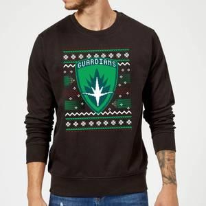 Guardians Of The Galaxy Badge Pattern Christmas Christmas Sweatshirt - Black