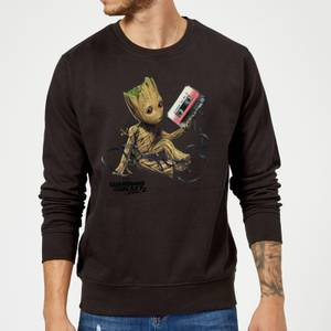 Guardians Of The Galaxy Groot Tape Christmas Sweater - Black