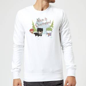 DC Nice Is Overrated Christmas Sweater - White