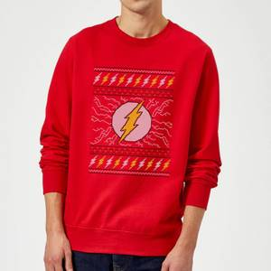 DC Flash Knit Christmas Sweatshirt - Red