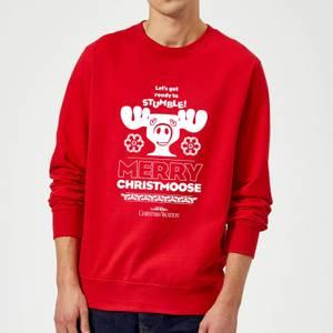 National Lampoon Merry Christmoose Christmas Sweatshirt - Red