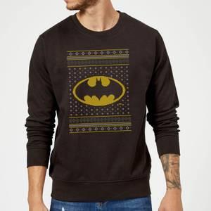 DC Batman Knit Christmas Sweater - Black