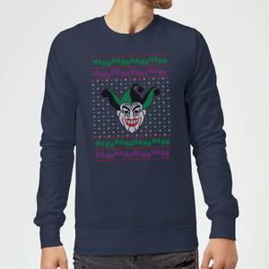 DC Joker Knit Christmas Sweatshirt - Navy