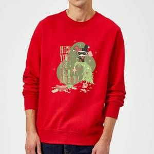 DC Heck Yeah I've Been Naughty! Christmas Sweater - Red