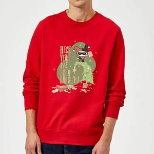 DC Heck Yeah I've Been Naughty! Christmas Sweatshirt - Red