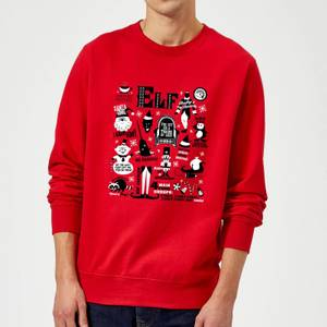Elf Christmas Sweatshirt - Red