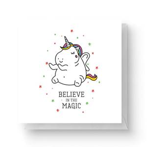 Believe In The Magic Square Greetings Card (14.8cm x 14.8cm)