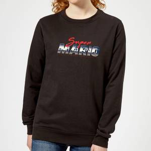 Nintendo Super Mario Original 80s Hero Women's Sweatshirt - Black