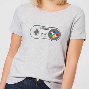 Nintendo Super Nintendo SNES Controller Pad Women's T-Shirt - Grey