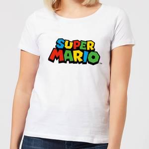 Nintendo Super Mario Colour Logo Women's T-Shirt - White