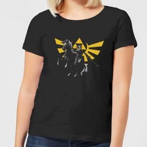 Nintendo Legend Of Zelda Hyrule Link Women's T-Shirt - Black
