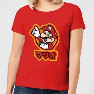 Nintendo Super Mario Kanji Women's T-Shirt - Red