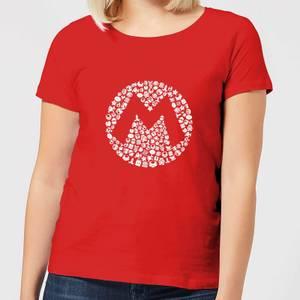 Nintendo Super Mario Mario Items Logo Women's T-Shirt - Red