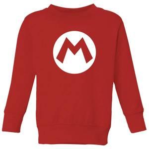 Nintendo Super Mario Logo Kid's Sweatshirt - Red