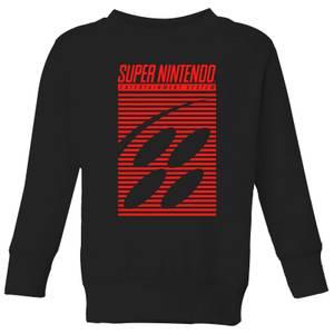 Nintendo Retro Logo Kid's Sweatshirt - Black