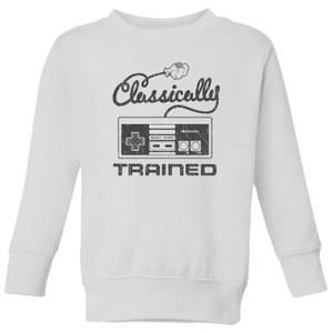 Nintendo Super Mario Retro Classically Trained Kid's Sweatshirt - White