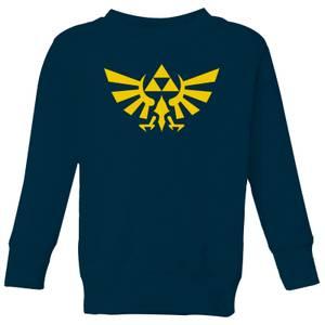 Nintendo Legend Of Zelda Hyrule Kids' Sweatshirt - Navy