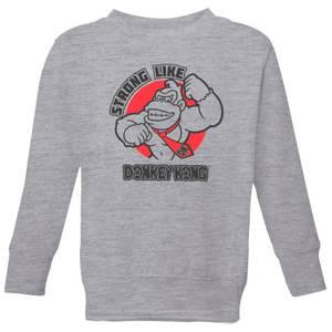 Nintendo Donkey Kong Strong Like Donkey Kong Kid's Sweatshirt - Grey